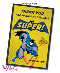 Batman Thank you card