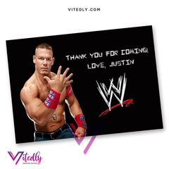 John Cena Thank you card