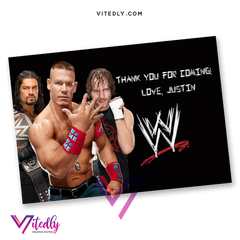 WWE Thank you card