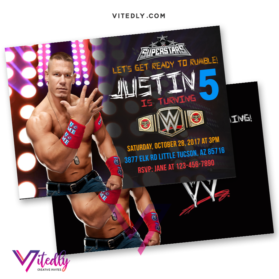 WWE Invitations