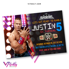 WWE Birthday Invitations
