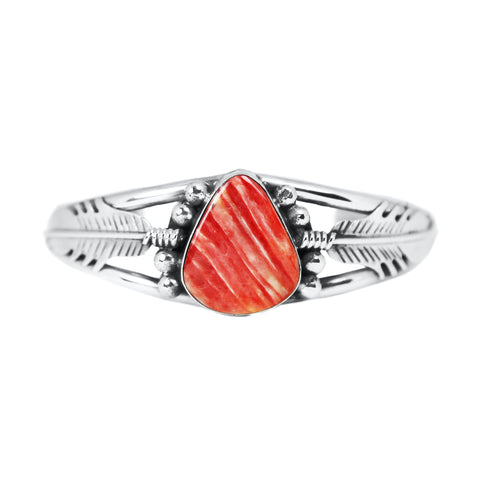 Pear Shaped Red Spiny Oyster Cuff Bracelet
