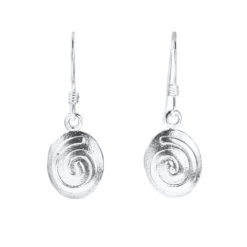 Hopi Silver Cast Symbol Earrings