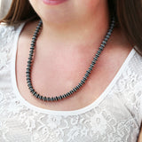 "Heavy Disk Navajo Pearl 24"" Necklace"