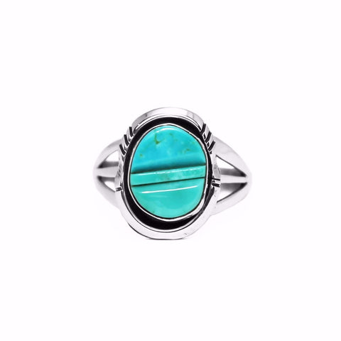 Cobblestone Turquoise Inlay Ring