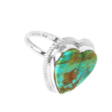 Kingman Turquoise Heart Statement Ring