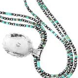 Turquoise & Navajo Pearl Pendant and Necklace
