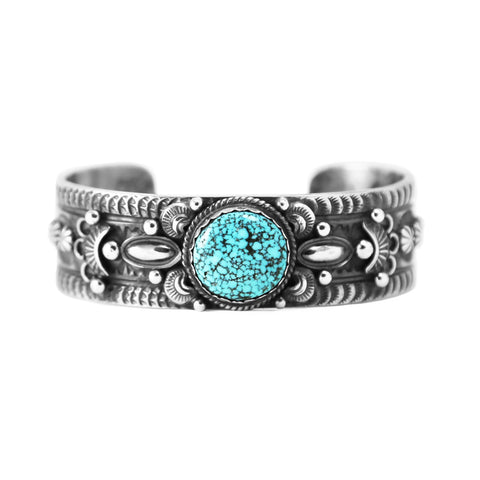 Western Style Navajo Turquoise Cuff Bracelet