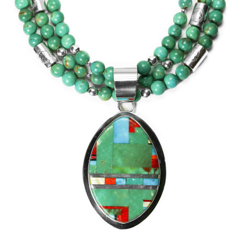 Santo Domingo Turquoise Inlay Necklace