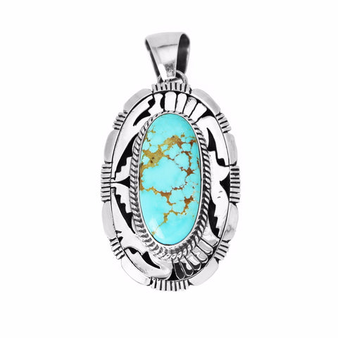 Royston Turquoise Fancy Design Pendant - Style 1