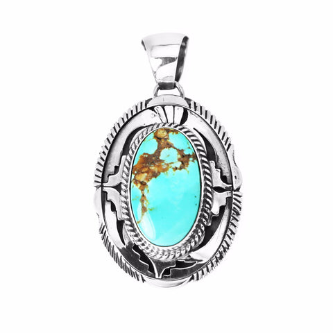 Royston Turquoise Fancy Design Pendant - Style 2