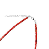 Apple Coral Single Strand Necklace
