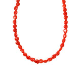 Freeform Coral Single Strand Necklace