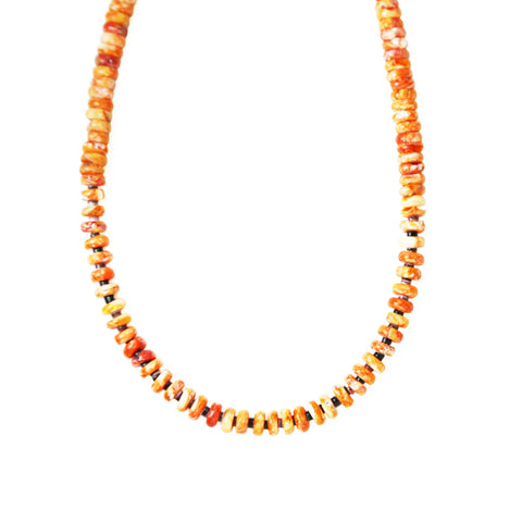 Orange Spiny Oyster Bead Necklace