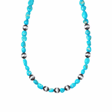 Sleeping Beauty Turquoise & Navajo Pearl Necklace