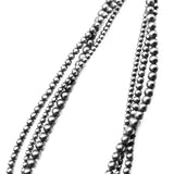 4mm-6mm Three Strand Navajo Pearl Necklace