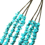 Three Strand Turquoise Chip Necklace