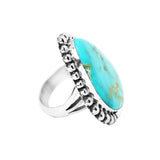 Large Half Dot Turquoise Ring - Stone 1