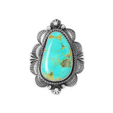 Royston Turquoise Stamped Band Ring - Style 1