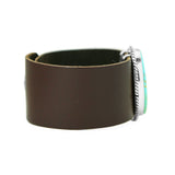 Kingman Turquoise Leather Bracelet - Stone 1