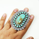 Huge Kingman Turquoise Statement Ring