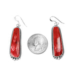 Red Spiny Oyster Long Dangle Earrings