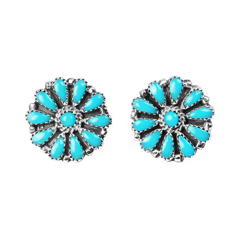 Navajo Turquoise Point Post Earrings