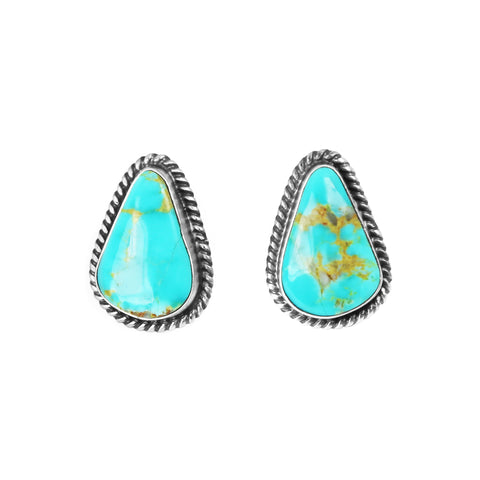Freeform Kingman Turquoise Post Earrings - Style 1