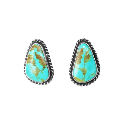 Freeform Kingman Turquoise Post Earrings - Style 2