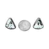 White Buffalo Medium Post Earrings - Style 1
