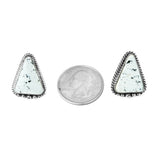 White Buffalo Medium Post Earrings - Style 2