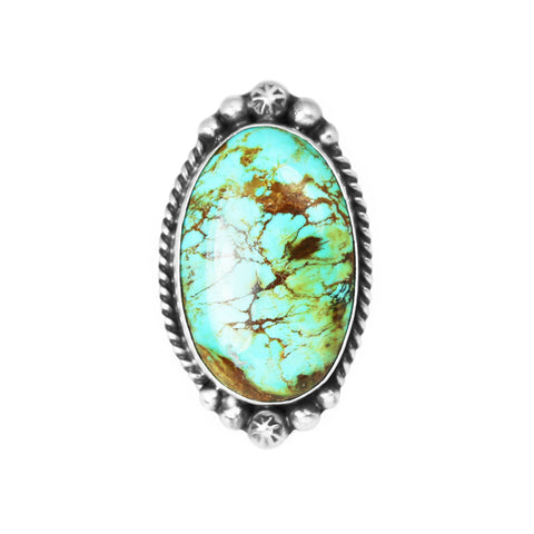 Green Kingman Turquoise Statement Ring