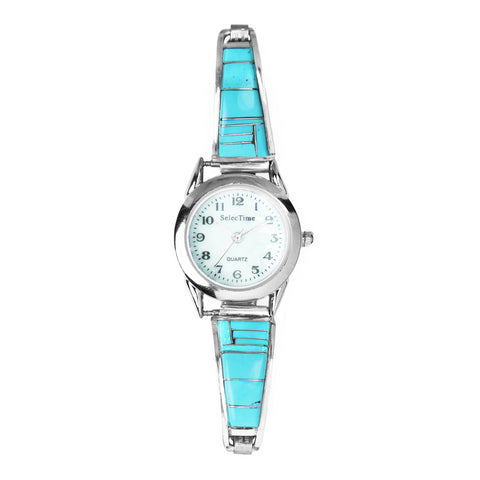 Turquoise Inlay Ladies Watch