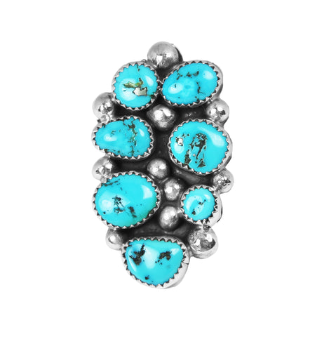 Kingman Turquoise Bubble Cluster Ring - Style 2