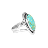 Kingman Turquoise Three Dot Ring