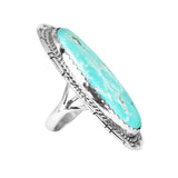 Oval Kingman Turquoise Silver Statement Ring