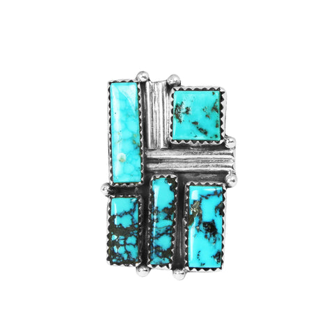 Contemporary Design Navajo Turquoise Ring