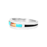 Men's Multi Color Inlay Band Ring