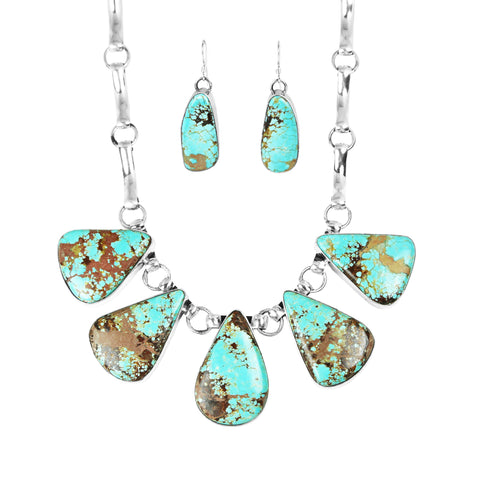 Number 8 Turquoise Necklace & Earring Set