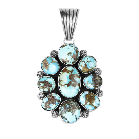 Golden Hills Turquoise Cluster Pendant