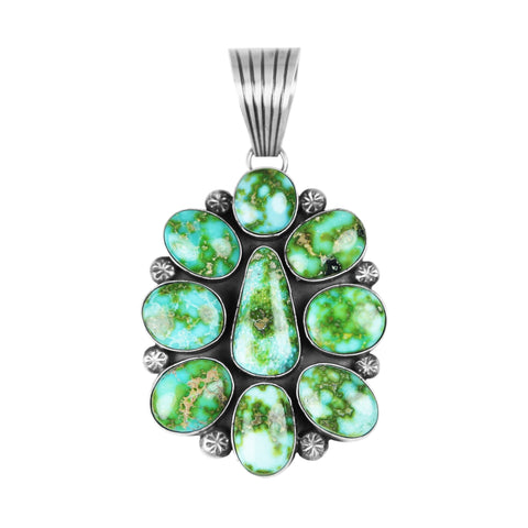 Sonoran Gold Turquoise Cluster Pendant - Style 1