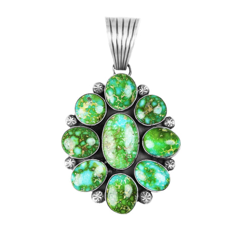 Sonoran Gold Turquoise Cluster Pendant - Style 2