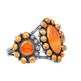 Orange Spiny Oyster Statement Cuff Bracelet