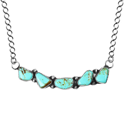 Five Stone Kingman Turquoise Bar Necklace