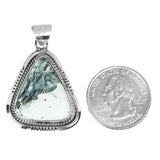 Triangle White Buffalo Silver Pendant