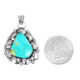 Freeform Turquoise Decorative Border Pendant