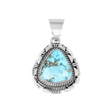 Triangular Golden Hills Turquoise Pendant