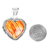 Orange Spiny Oyster Heart Pendant