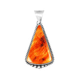 Triangle Orange Spiny Oyster Pendant