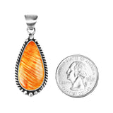 Teardrop Orange Spiny Oyster Pendant - Style 1